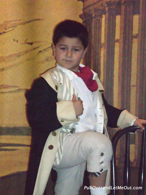 kid dressed up as George Washington