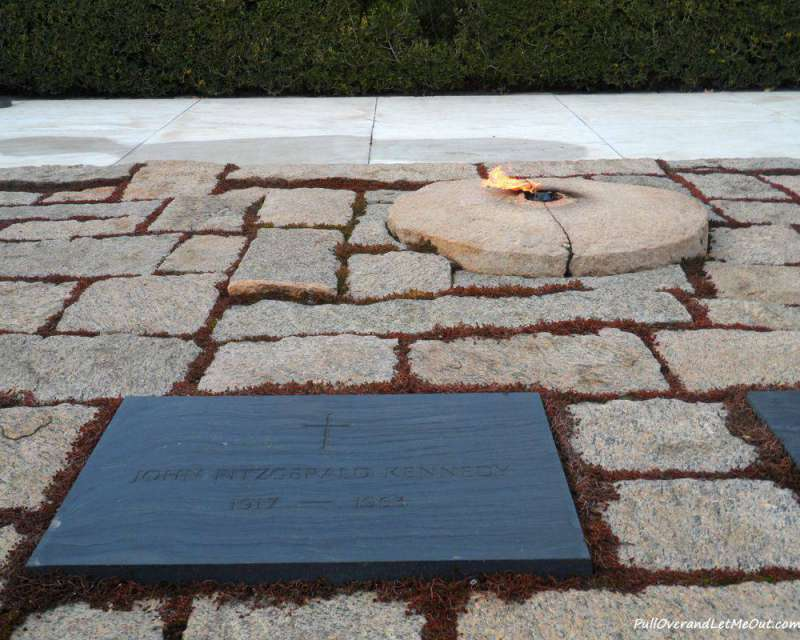 The Eternal Flame at the grave of President John F. Kennedy
