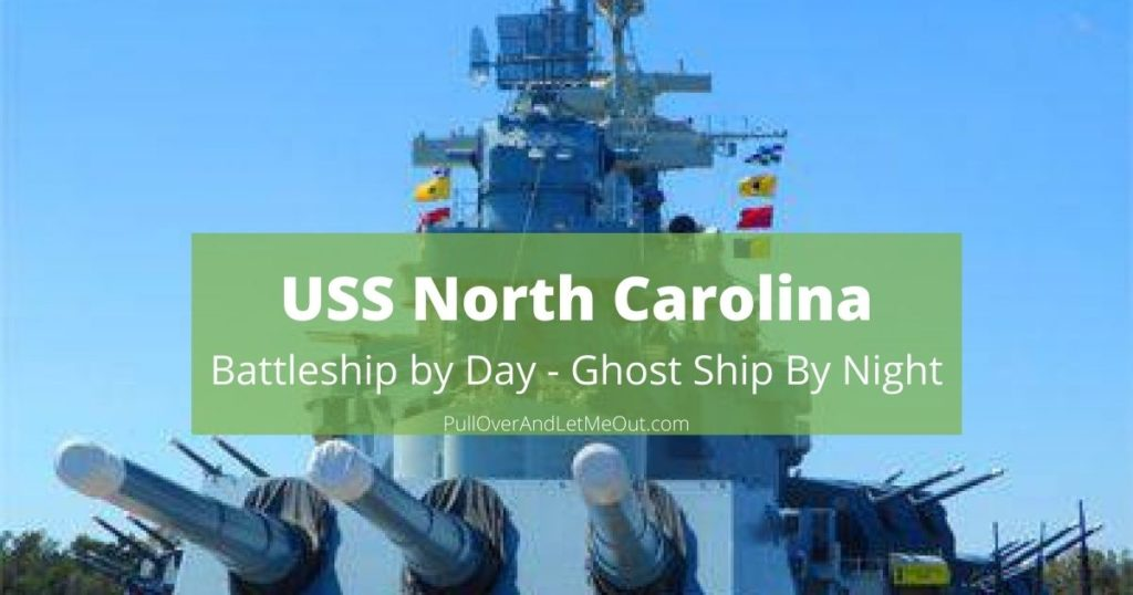 Cover photograph of the USS North Carolina battleship in Wilmington NC
