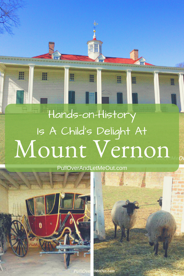 George Washington's historic home on the Potomac comes alive for youngsters engaging them in activity the moment they arrive. If a visit to the nation's capital is on your agenda a stop at the home of George Washington is worth the price of admission for families. #PullOverAndLetMeOut #Travel #Virginia #MountVernon #GeorgeWashington #KidFriendly #KidFriendlyTravel #FieldTrips #PotomacRiver #HistoricalTravel #Historic #FoundingFathers #History