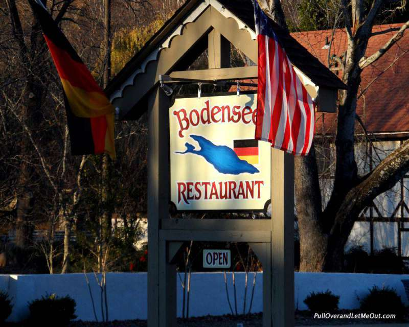 Sign outside Bodensee Restaurant in Helen, GA PullOverAndLetMeOut
