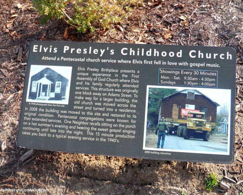 Elvis Presley's childhood church in Tupelo, MS.