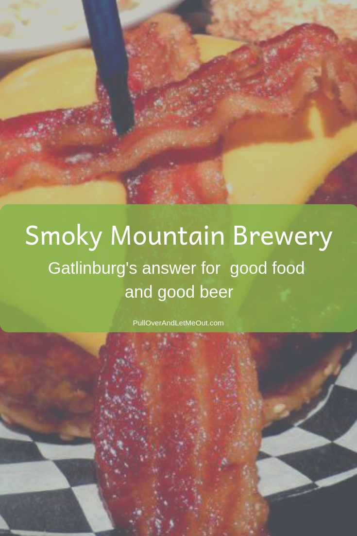 The Smoky Mountain Brewery first opened in Gatlinburg in 1996 and has been serving fresh mountain micro-brewed beer along with hand-tossed pizza, delicious subs and sandwiches since. The brewery is located in Calhoun's Village at 1004 Parkway with the Smoky Mountains as its backdrop. #PullOverAndLetMeOut #SmokyMountains #Gatlinburg #Tennessee #travel #dining #restaurant #beer #Microbrewery #foodie #burgers #restaurant