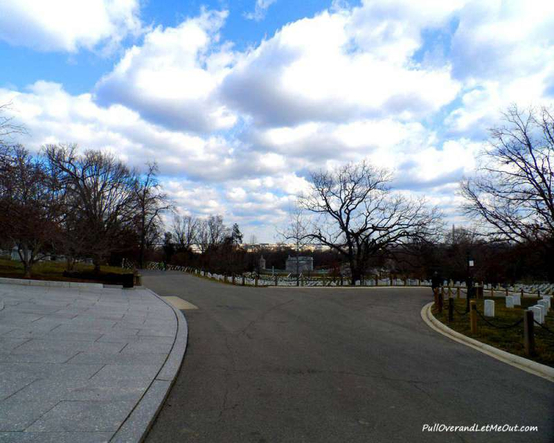 Arlington National Cemetery on a winter day