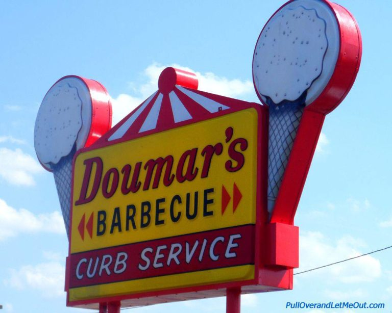Doumar's BBQ and Ice Cream sign in Norfolk, VA