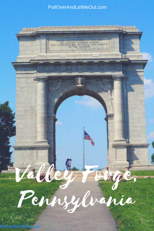 Valley Forge National Historical Park in Pennsylvania is a family-friendly destination. Step back in time and learn about the winter encampment that changed the course of the Revolutionary War. #PullOverAndLetMeOut #Travel #Pennsylvania #ValleyForge #RevolutionaryWar #Historical #KidFriendly #FieldTrip #KidFriendlyTravel