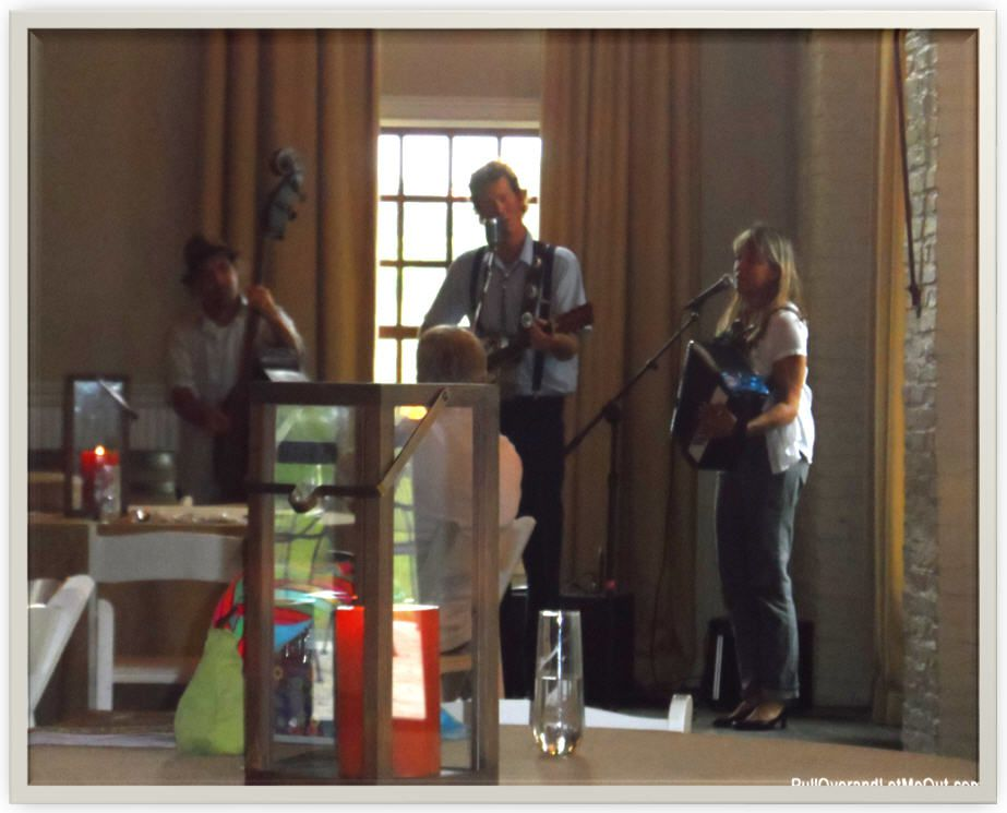 musicians playing on a stage at Early Mountain Vineyards in Madison VA