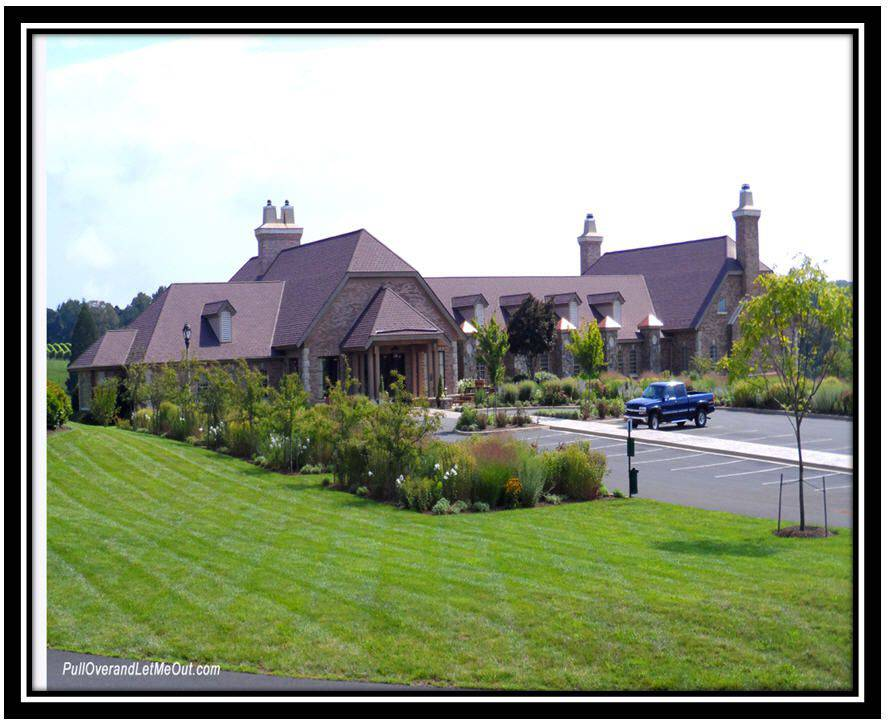 Exterior of the Early Mountain Vineyards winery in Madison VA