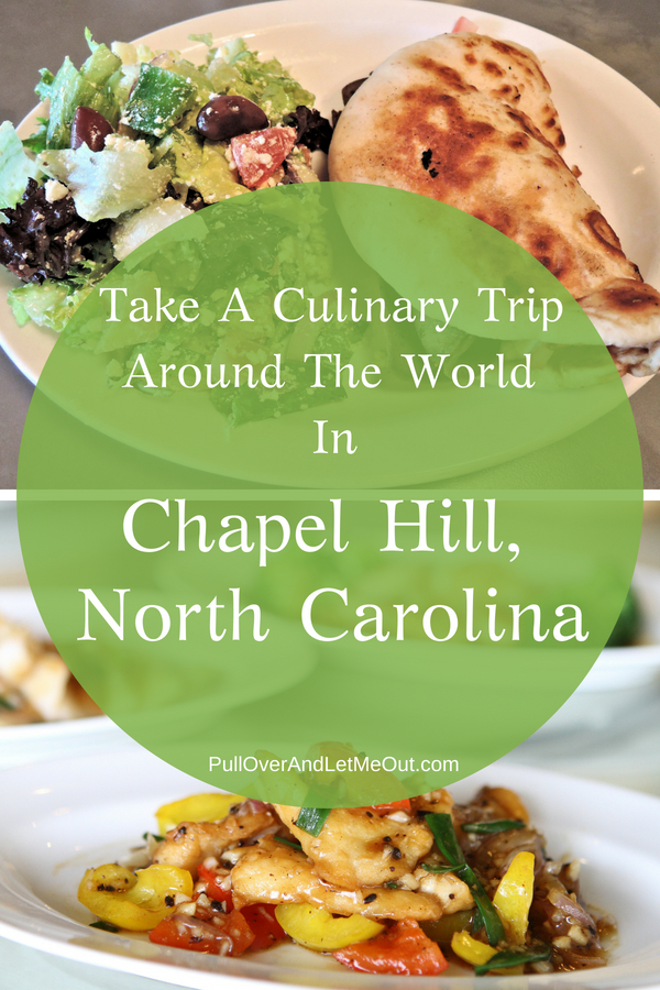 "Triangle Food Tours' Downtown Chapel Hill & Carrboro Food Tasting & Cultural Walking Tour is a great taste trip around the world of food in what Bon Appetite Magazine calls ""America's Foodiest Small Town."" #ChapelHill #food #restaurant #foodies #travel #dining #PullOverAndLetMeOut"