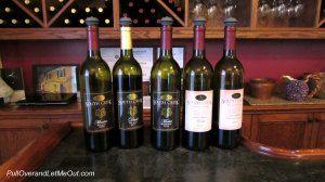 Bottles of South Creek Vineyards wine
