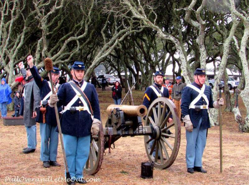Civil War reenacters