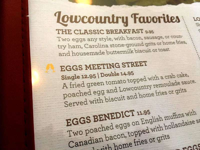 Eggs on the menu