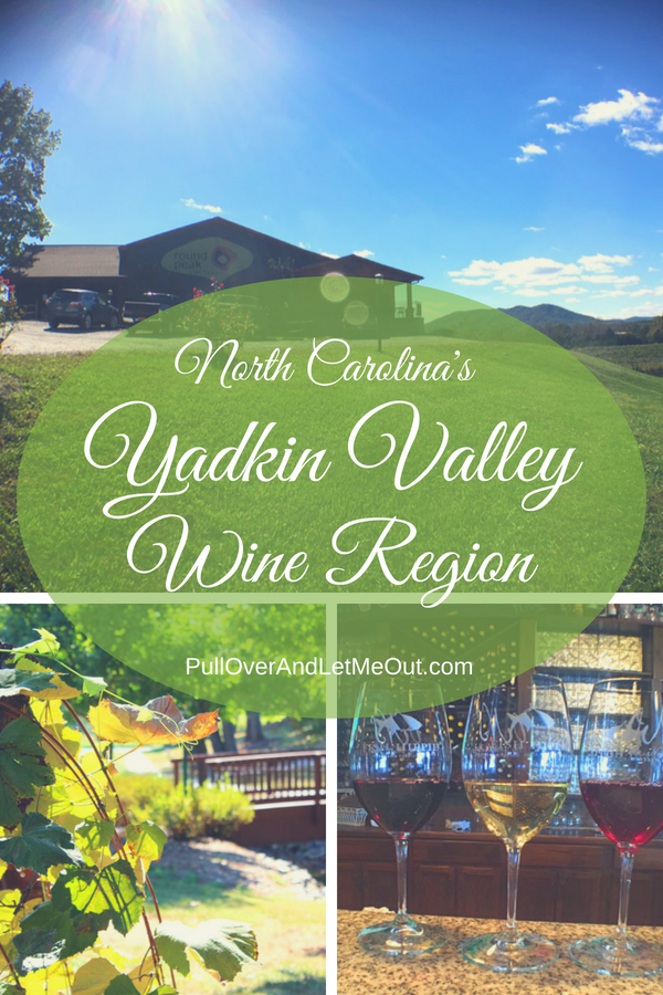North Carolina's Yadkin Valley Wine Region PullOverAndLetMeOut pin