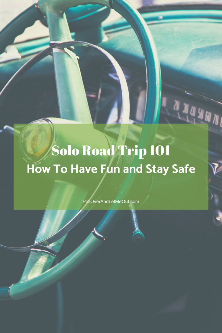 Solo Road Trip 101 PullOverAndLetMeOut pin
