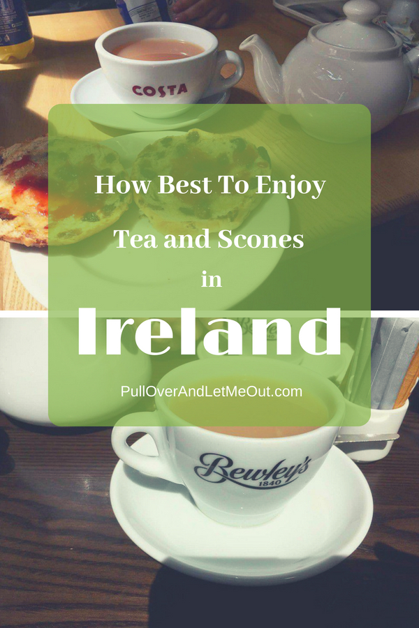Tea and Scones Ireland pin PullOverAndLEtMeOut