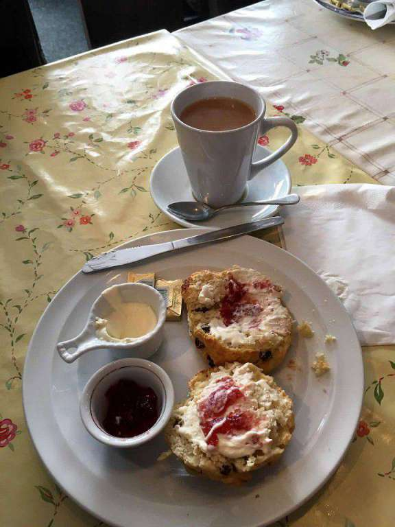 tea and scones in Cobh