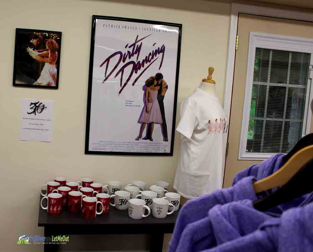 Dirty Dancing section of gift shop Mountain Lake Lodge