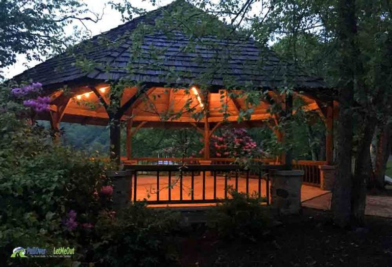 Dirty Dancing gazebo at Mountain Lake Lodge