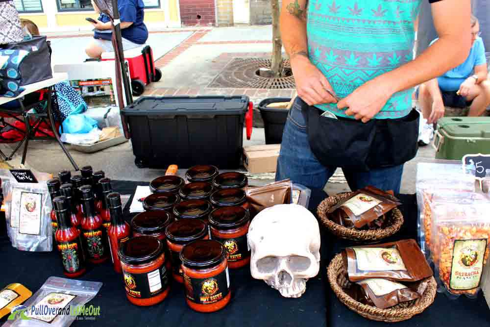 NC Hot Sauce Festival Ghost Peppers in the sauce PullOverandLetMeOut