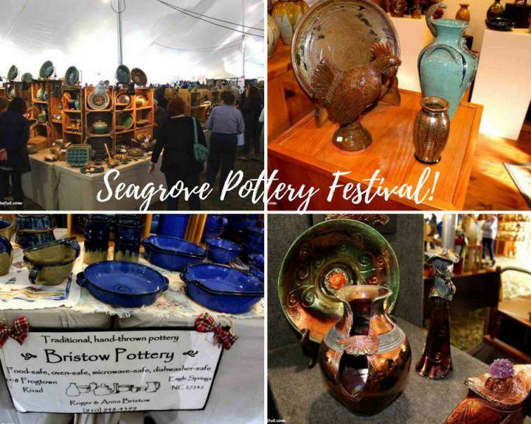 Seagrove Pottery Festival collage PullOverandLetMeOut