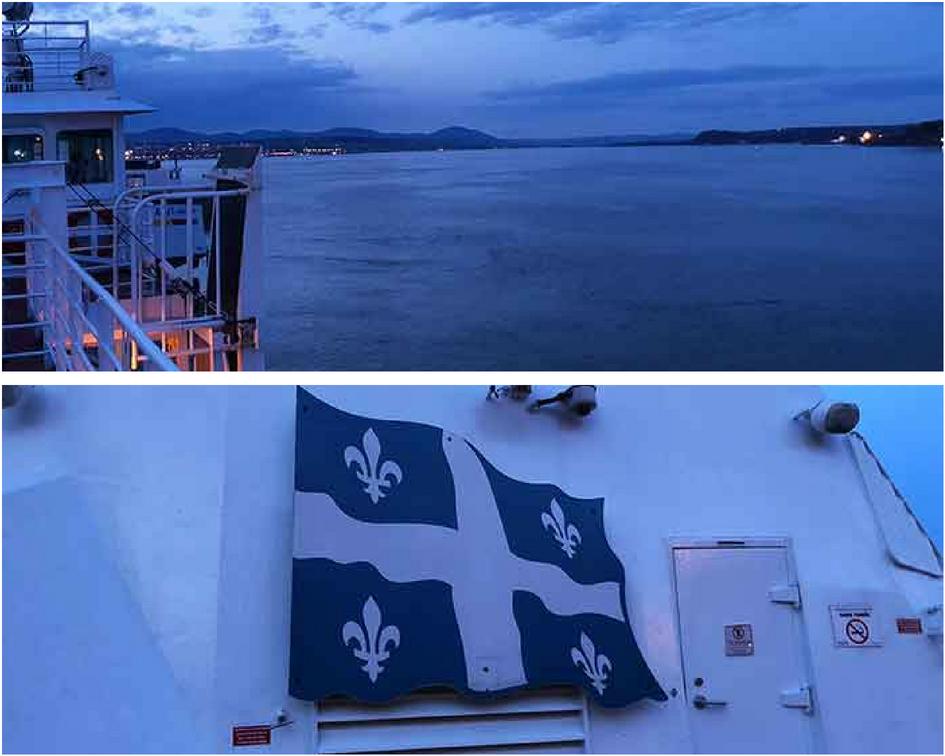 Levis ferry sunset Quebec PullOverAndLetMeOut