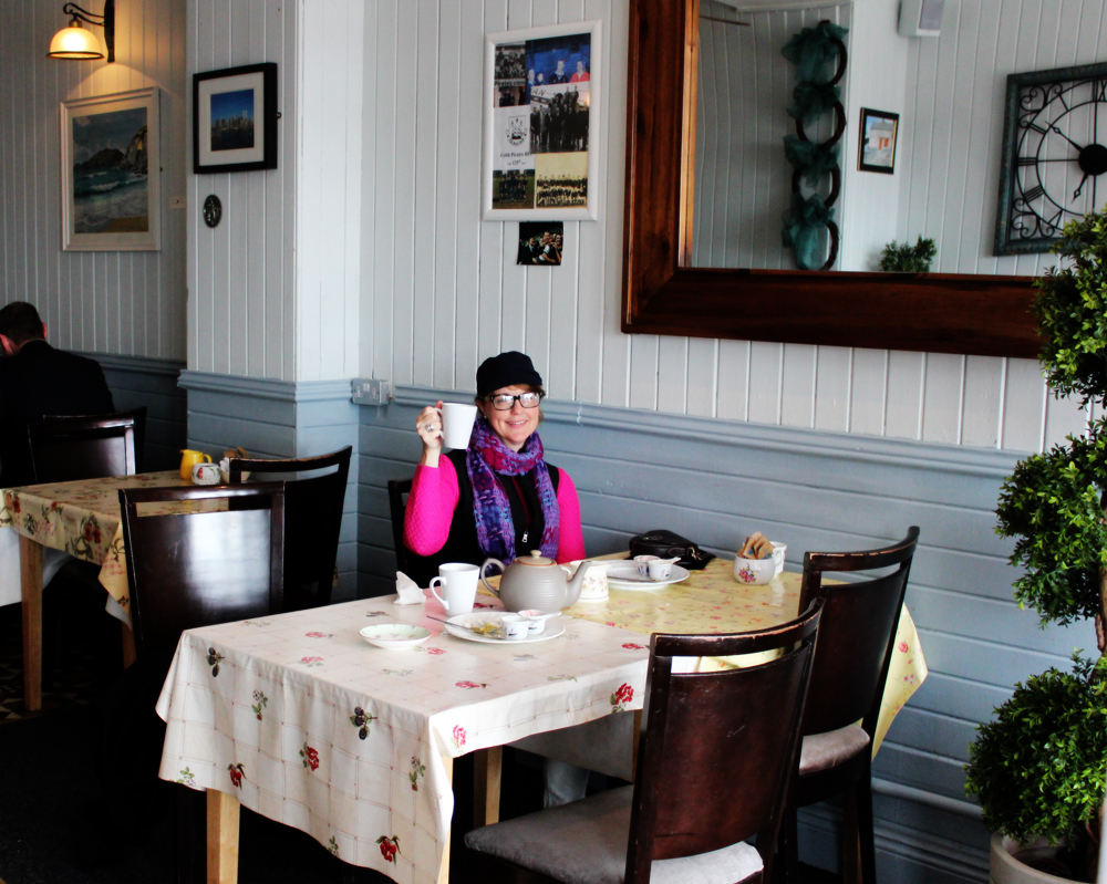 Anna Marie tea and scones at Coffee Cove in Cobh PullOverAndLetMeOut
