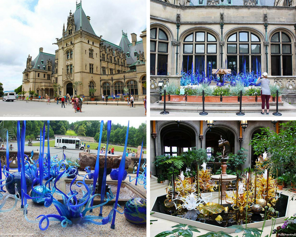 Chihuly at Biltmore is the first art exhibition in Biltmore's historic gardens and the first in the state of North Carolina for Dale Chihuly. #PullOverAndLetMeOut #ChihulyAtBiltmore #Chihuly #Biltmore #travel #NorthCarolina #VisitNC #art #artglass