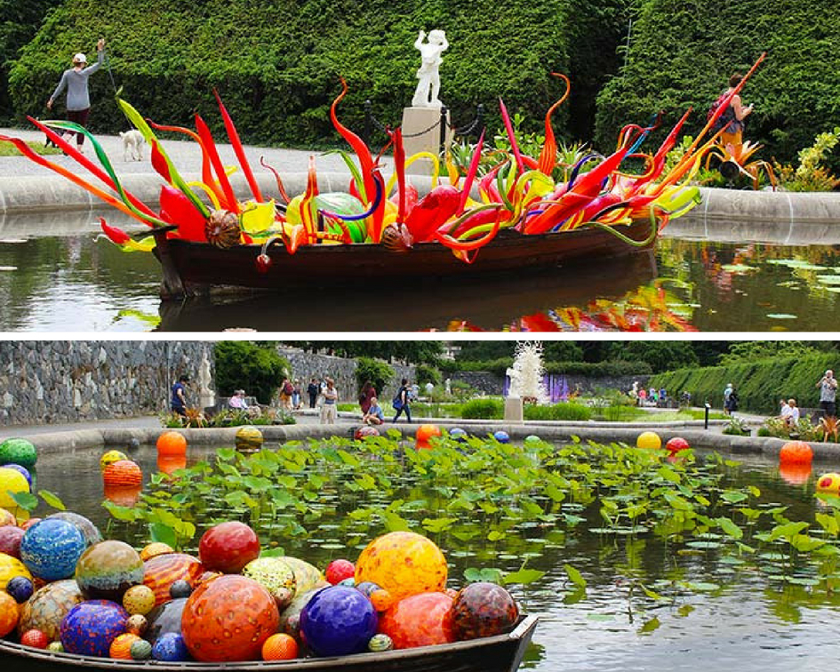Chihuly At Biltmore is an incredible display of the awe-inspiring work of renowned artist, Dale Chihuly. #PullOverAndLetMeOut #ChihulyAtBiltmore #Biltmore #Chihuly #Asheville #travel #VisitNC #NorthCarolina #artexhibit