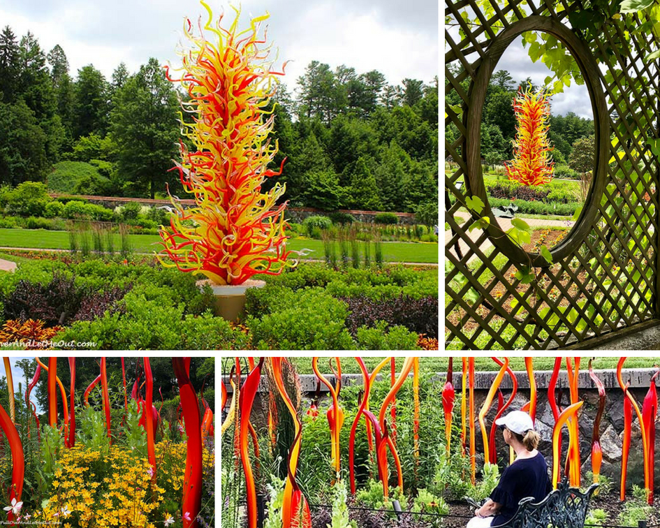 Chihuly at Biltmore is a fabulous exhibition of famous artist Dale Chihuly's iconic glass work. #PullOverAndLetMeOut #ChihulyAtBiltmore #Chihuly #Biltmore #Asheville #travel #art #glassart #BiltmoreEstate