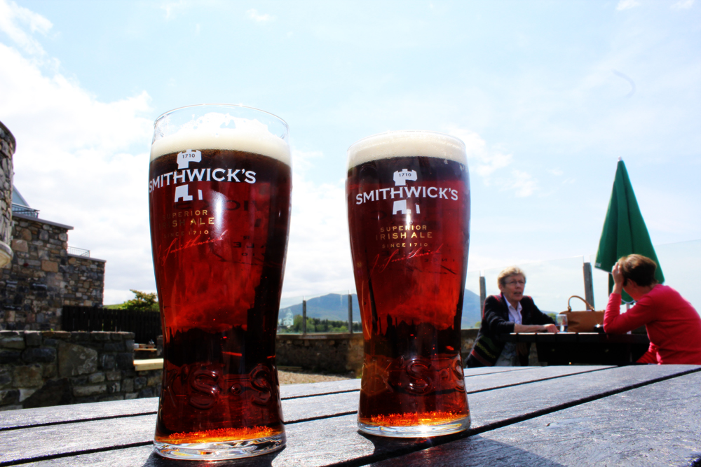 Smithwicks in front of Croagh Patrick Westport Ireland PullOverAndLetMeOut