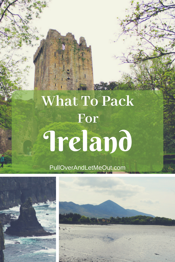 Knowing how to pack for Ireland is easy and hard. Easy, because regardless of season, the wardrobe requirements are pretty much the same. Hard, because you can experience all four seasons in a single day. Here's the Pull Over and Let Me Out list of what to pack for Ireland. #PullOverAndLetMeOut #Travel #Ireland #PackingList #IrelandPackingList #VisitIreland #IrelandVacation #WhatToPackForIreland