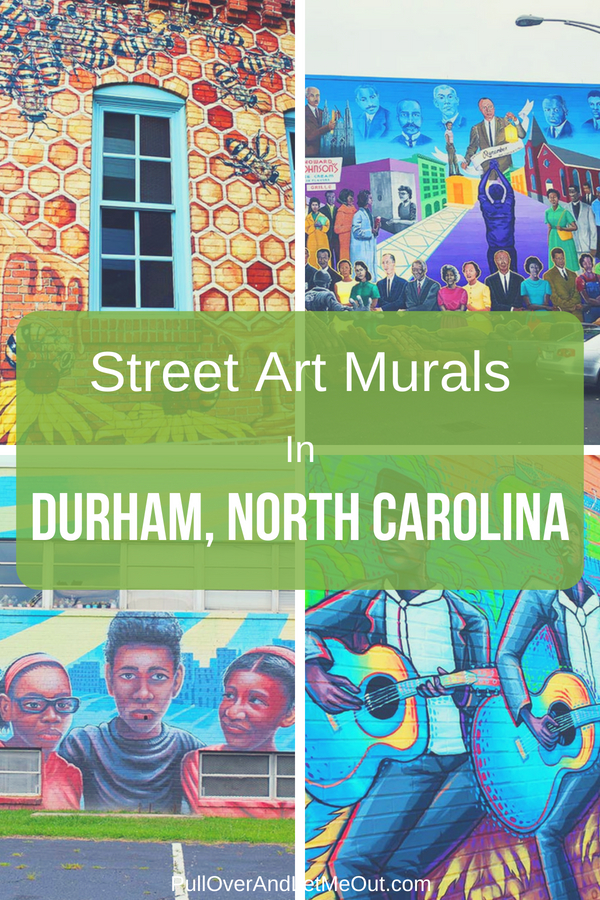 Durham, North Carolina is gaining notoriety as an artistic capital with its beautiful and expressive street art and murals. #PullOverAndLetMeOut #Travel #Durham #NorthCarolina #streetart #Graffiti #murals #wallart #VisitNC #BullCity #BestoftheBull
