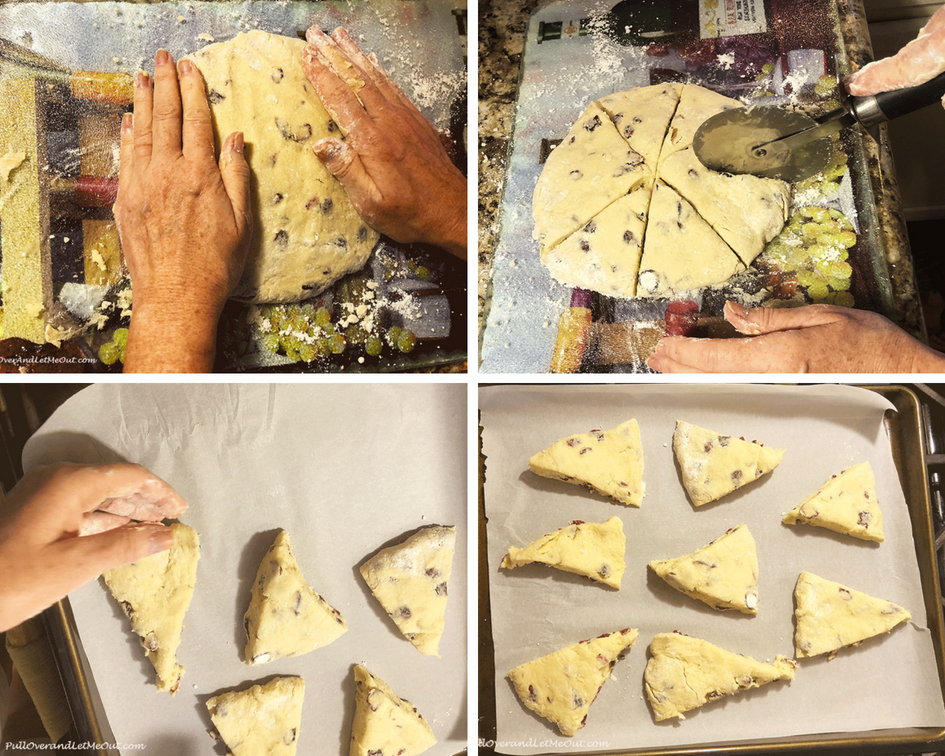 Cranberry Scones baking prep PullOverAndLetMeOut