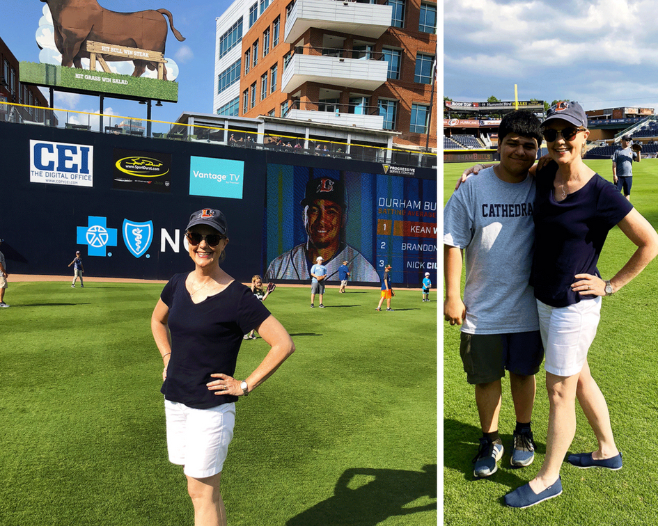 Durham Bulls Athletic Park outfield catch PullOverAndLetMeOut