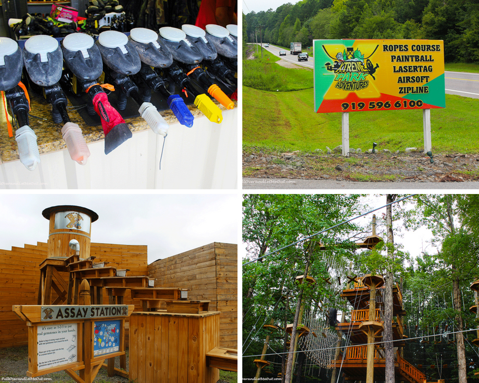 Xtreme Park Adventures in the Triangle region of North Carolina offers an array of outdoor activities. #PullOverAndLetMeOut #Raleigh #Durham #Xtreme #paintball #airsoft #gemmining #NorthCarolina #travel #zipline #ropecourse