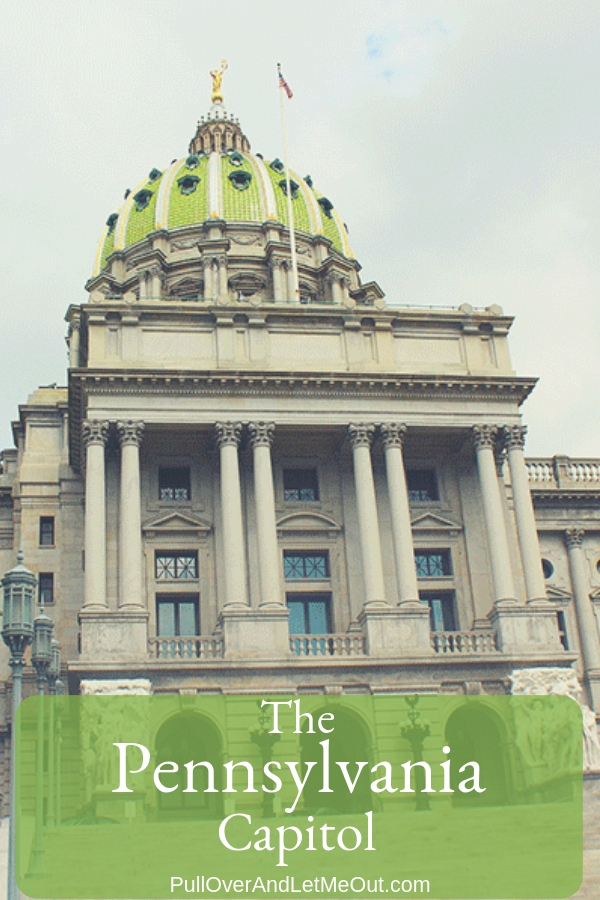 Dedicated in 1906 and designed by Joseph Huston, in the American Renaissance style, the massive building is a fully-functioning seat of state government. It's also an artistic, architectural, and historical gem. #PullOverAndLetMeOut #Pennsylvania #Harrisburg #PACapitol #Capitol #FieldTrip #KidFriendly #Historical #StateCapitol