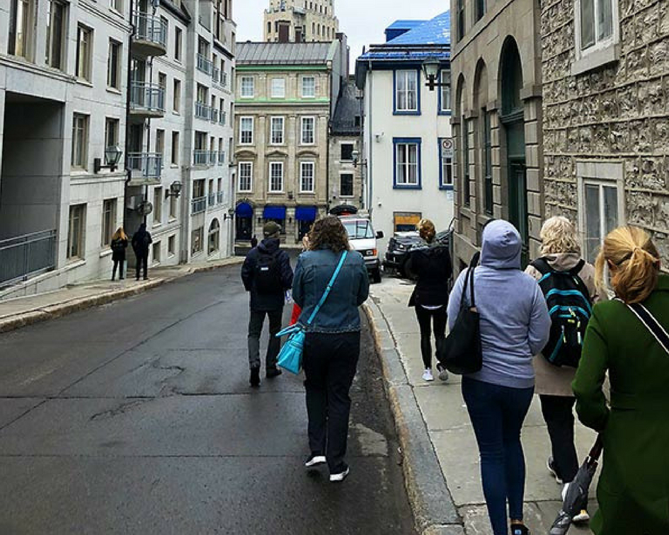 Walk - staying fit while traveling PullOverAndLetMeOut Quebec walking tour