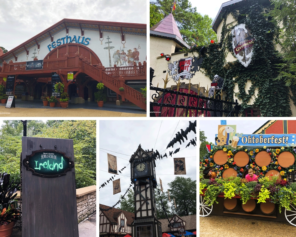 Busch Gardens Howl-O-Scream collage of countries PullOverAndLetMeOut