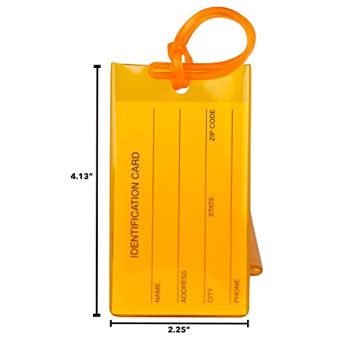 4 Pack Travelmore Luggage Tags For Suitcases Flexible Silicone Travel Id Identification Labels Set Bags Baggage Orange