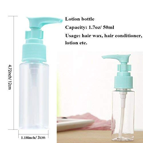 9b112ed73cc6 ANREONER 12 Pack Travel Size Toiletries Bottles and Jars Set, TSA Approved  Portable Rigid Plastic Travel Containers with Flip Cap Spray Lotion Bottles  ...