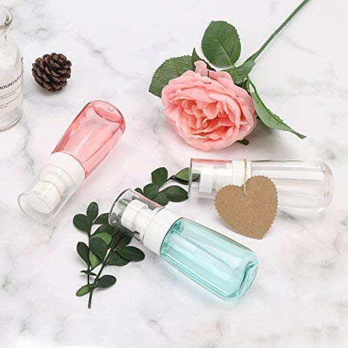 0964fd1f7995 Fine Mist Makeup Spray Bottle, 3Pcs Airless Misting Refillable Travel  Containers, Segbeauty Water Mister Clear Plastic Atomizer for Cosmetic  Skincare ...