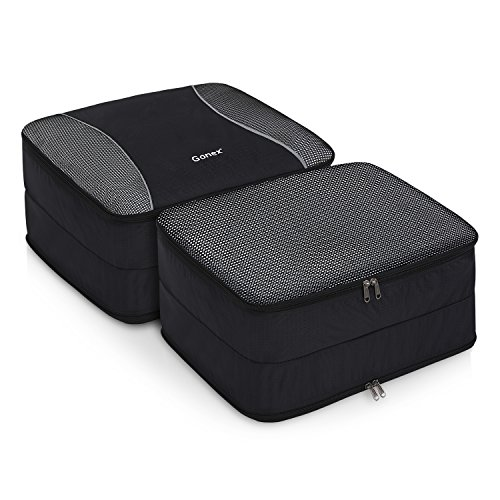 Leave 3 Set Packing Cubes,2 Various Sizes Travel Luggage Packing Organizers e