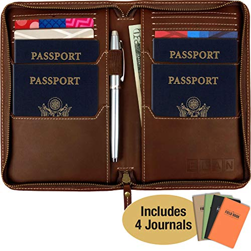 Leather Travel Wallet & Passport Holder: Passport Cover