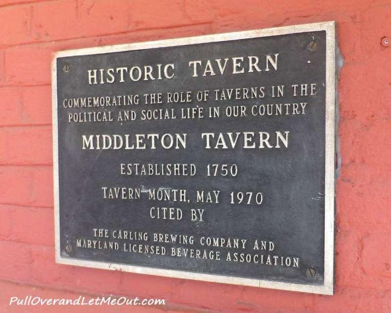 Middleton Tavern Annapolis plaque PullOverAndLetMeOut