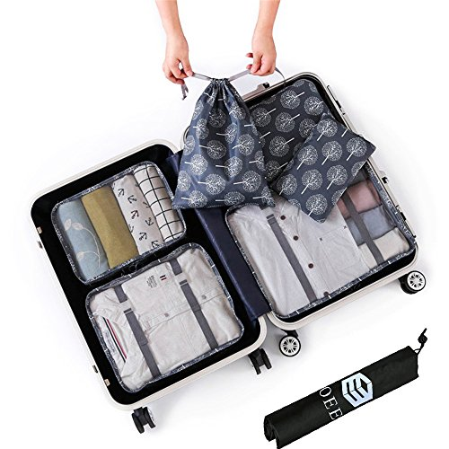 e991ed6db489 OEE 6 pcs Luggage Packing Organizers Packing Cubes Set for Travel