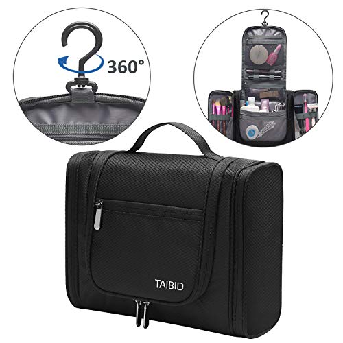 Taibid Large Hanging Travel Toiletry Bag For Men And Women Waterproof Makeup Organizer Bags Wash Shaving Kit Cosmetic Accessories