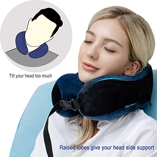 with Upgrade Memory Foam Travel Pillow Victuna Neck Pillow for Airplane Travel