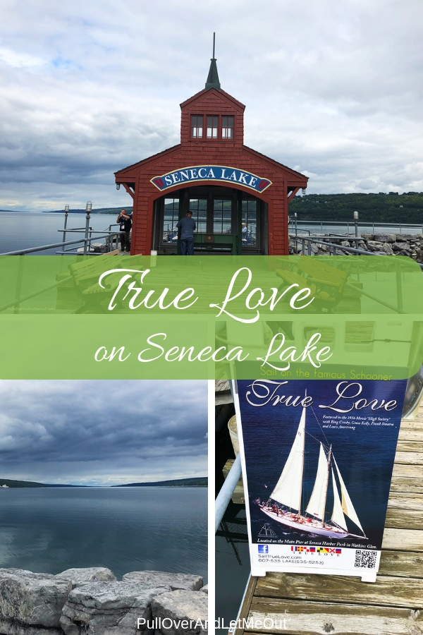 The True Love schooner made famous in the 1956 movie, High Society, awaits! Take a beautiful excursion onboard the classic sailboat on Seneca Lake in New York's Finger Lakes Region. #PullOverAndLetMeOut #TrueLove #boat #FingerLakes #SenecaLake #NewYork #travel