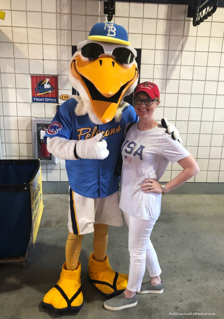 AM-with-Pelican-Myrtle-Beach-Pelicans-PullOverAndLetMeOut