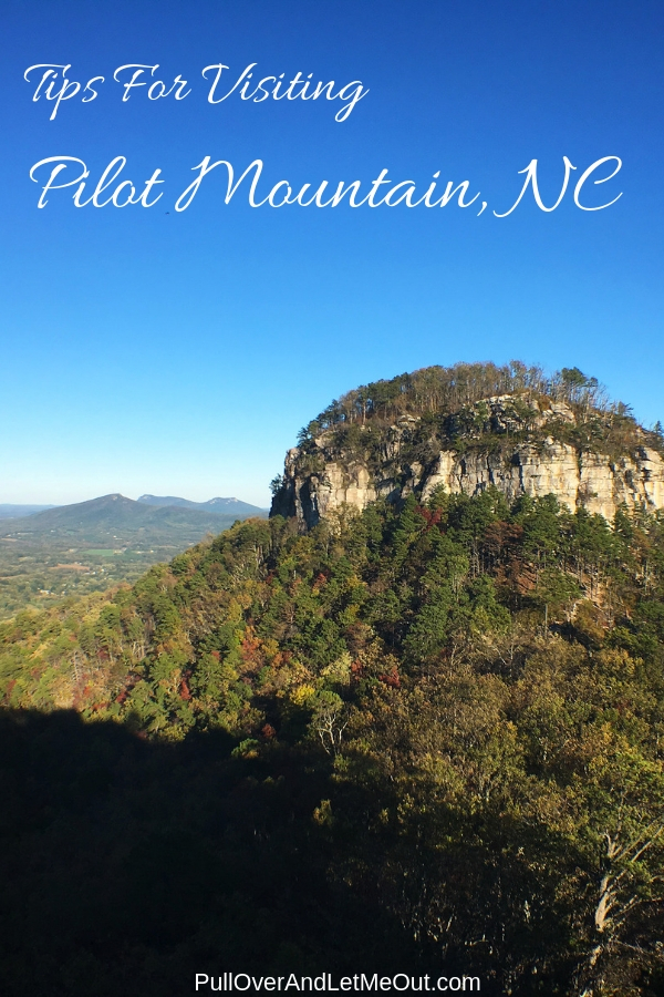 Pilot Mountain, NC is an iconic landmark attracting visitors in search of outdoor adventure. Here's a list of tips for planning your visit to Pilot Mountain, North Carolina. #PullOverAndLetMeOut #NorthCarolina #RockClimbing #Hiking #travel #VisitNC #outdoors #camping #mountains #views